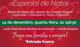 Colégio Piaget realiza Cantata de Natal na Concha Acústica